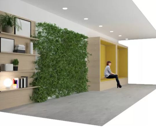 diseño de la recepción de unas oficinas