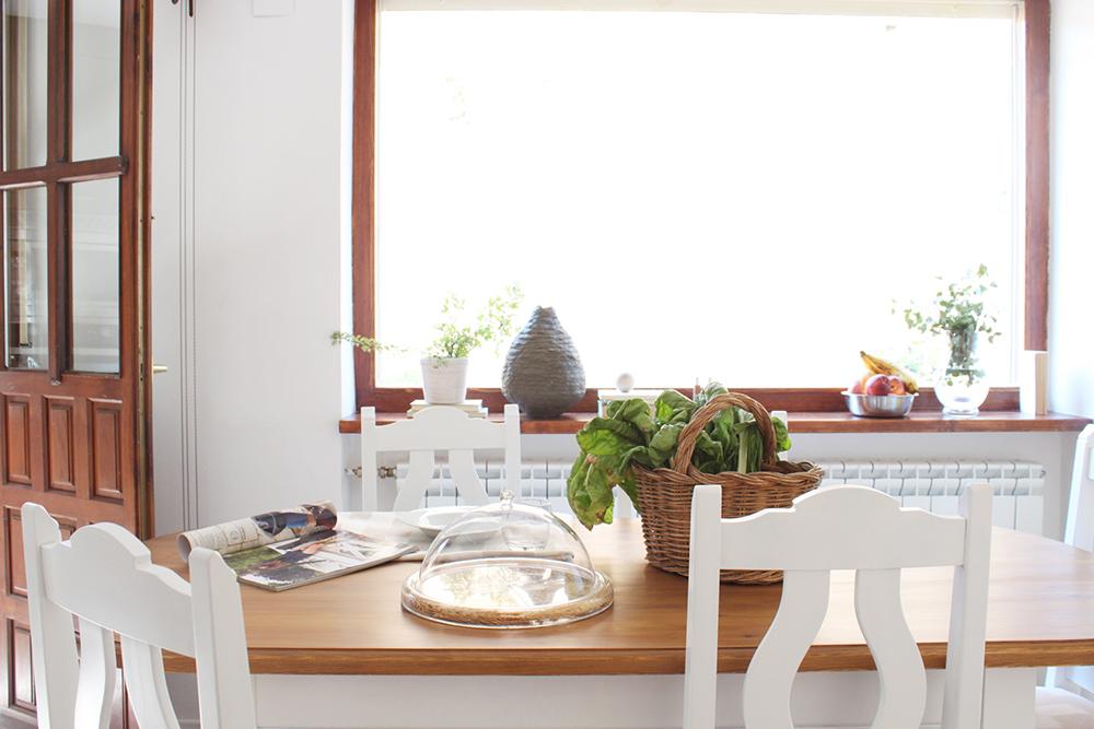 detalle del comedor de una cocina reformada por Deleite Design