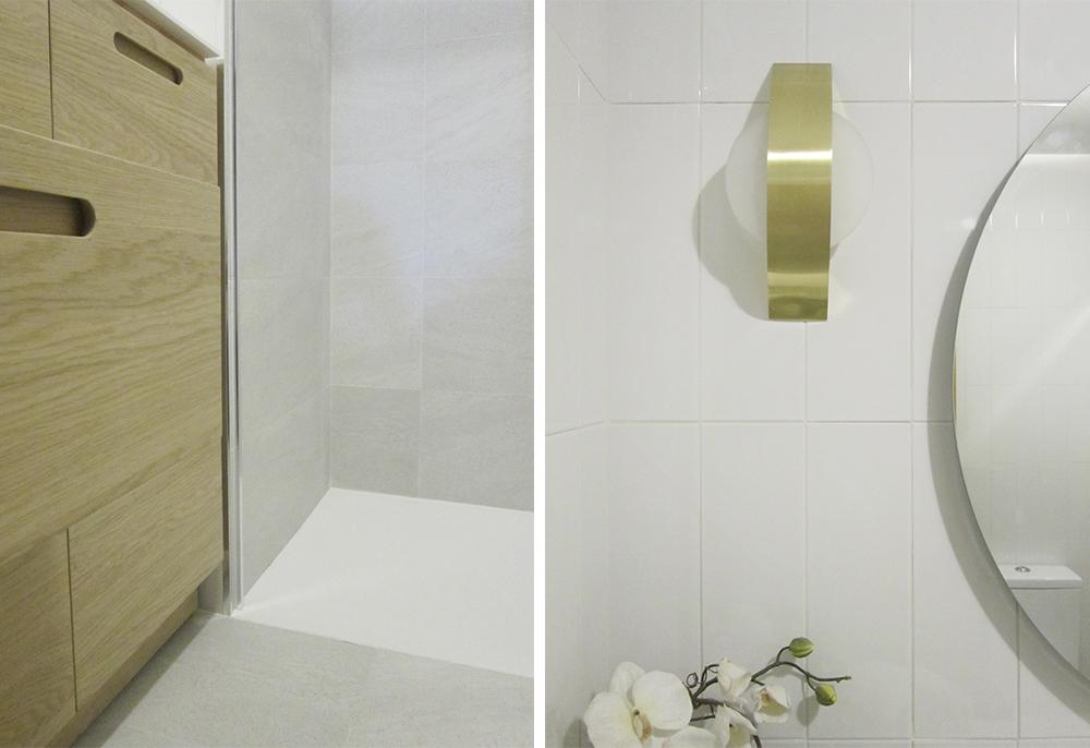 detalles de la reforma de un baño