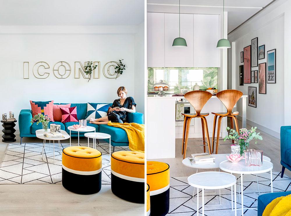 diseño de interiores de un piso en Madrid