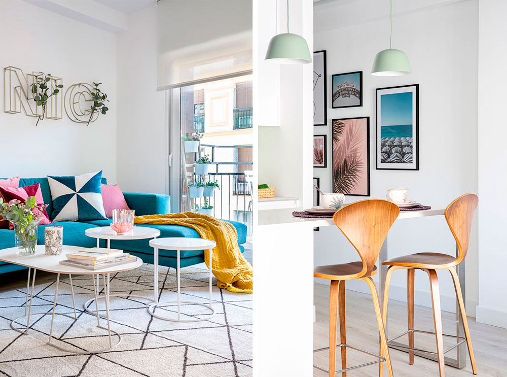 proyecto de diseño de interiores de un piso en Madrid