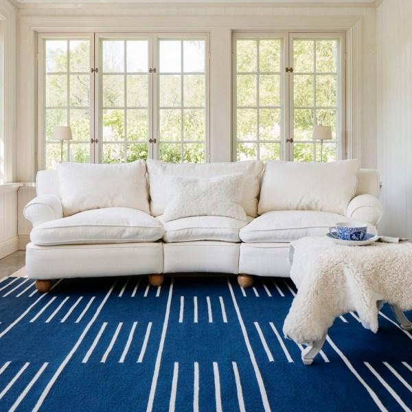 Alfombra de lana Classic Blue de Nordic Knots