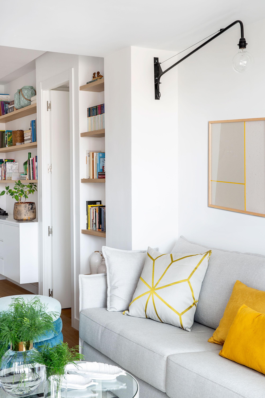 salon con muebles a medida del proyecto decoracion en madrid rio