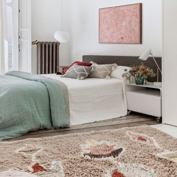 alfombra estilo boho lavable