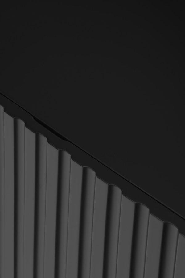 detalle tirador aparador doric 4 puertas negro de Teulat