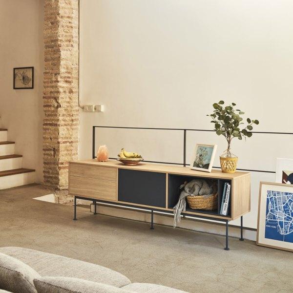 Mueble de tv Yoko Gris Antracita de Teulat