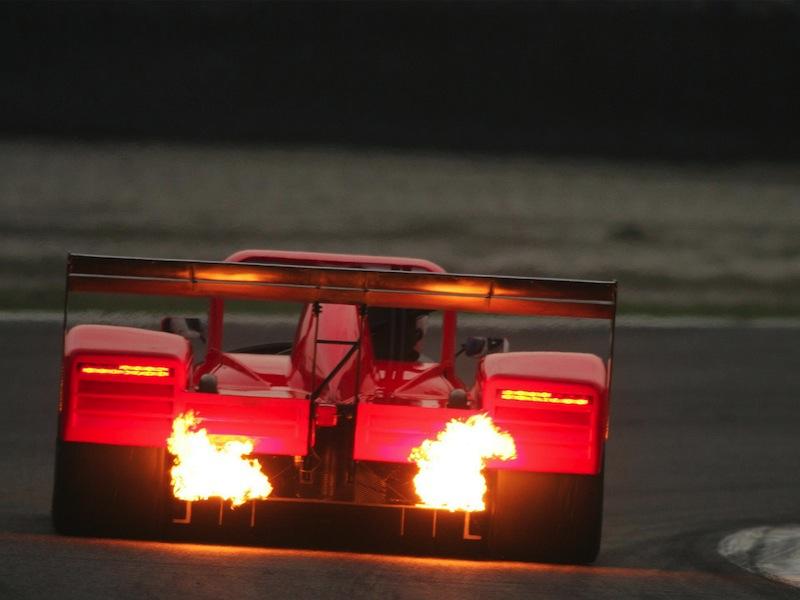 Ferrari 333SP arrière flammes