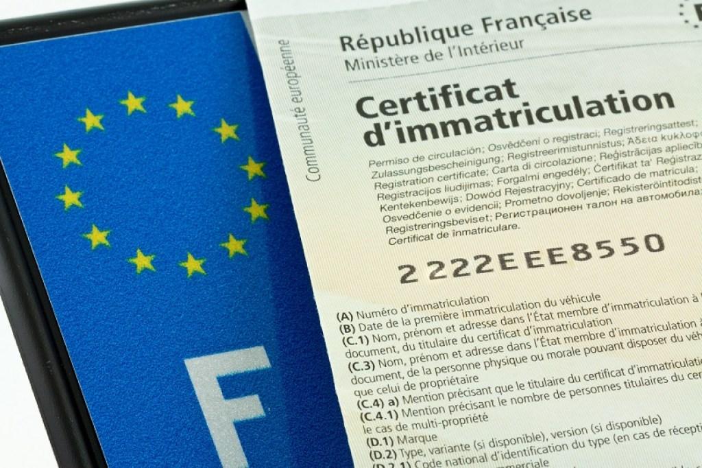plaque, certificat, immatriculation