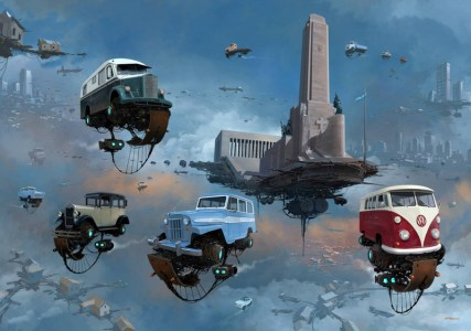 DLEDMV - Universe Scrap Flying Vintage Cars - 12