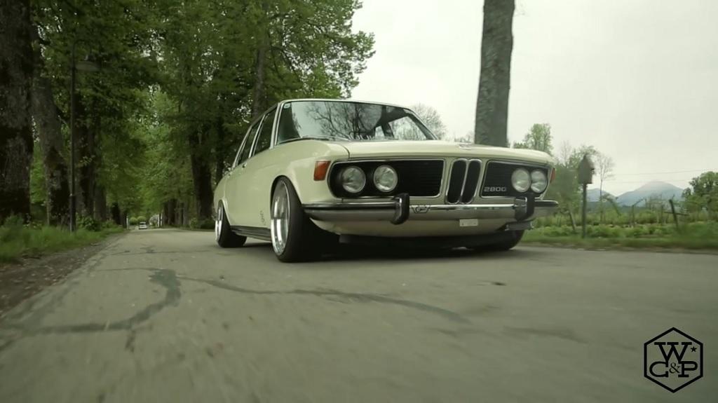 Bagged BMW 2800 E3 - Stance en blouse blanche ! 5