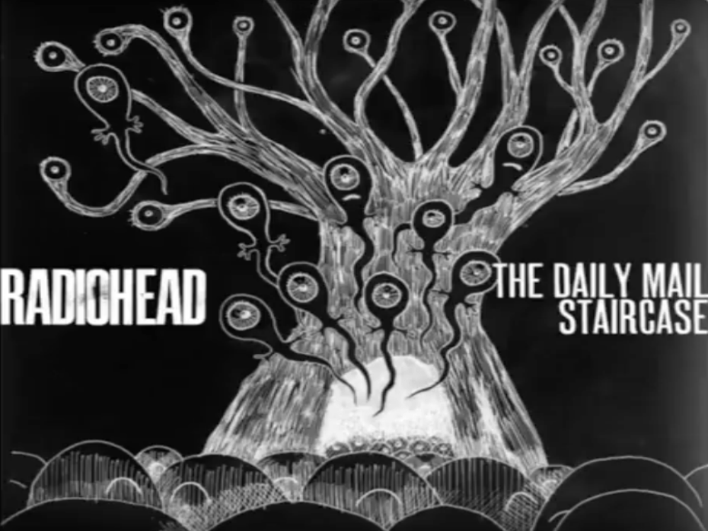 RADIOHEAD The Daily Mail & Staircase (Image Video)