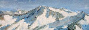 De la Cime Caron - huile sur toile - 150x50cm