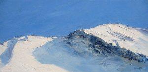 Glisse N°2- huile sur toile - 40x80cm - collection particulière