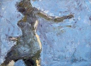 """Reflet 1 - huile sur toile - 33x24cm (collection particulière) Publication américaine """"Poets and Artists"""" www.poetsandartists.com O&S summer 2009 (Delettre p.132 / 10 pages)"""
