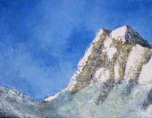 Le pic de la Rousse (Hautes-Alpes) - huile sur toile - 116x89cm (collection particulière)