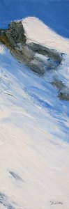 La vallée du Haut-Guil (Le Queyras) - huile sur toile - 90x30cm (collection particulière)
