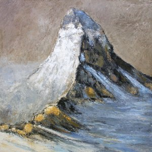 Le Cervin (Suisse) - huile sur toile - 120x120cm