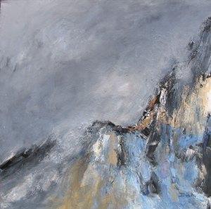 Le Doron de Pralognan (Le col de La Vanoise) - 80x80cm