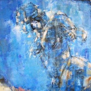 Rêverie 7 – huile sur toile – 100×100 cm