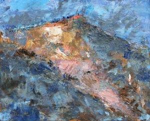 Grand Perron des Encombres (Tarentaise) - huile sur toile - 41x33cm
