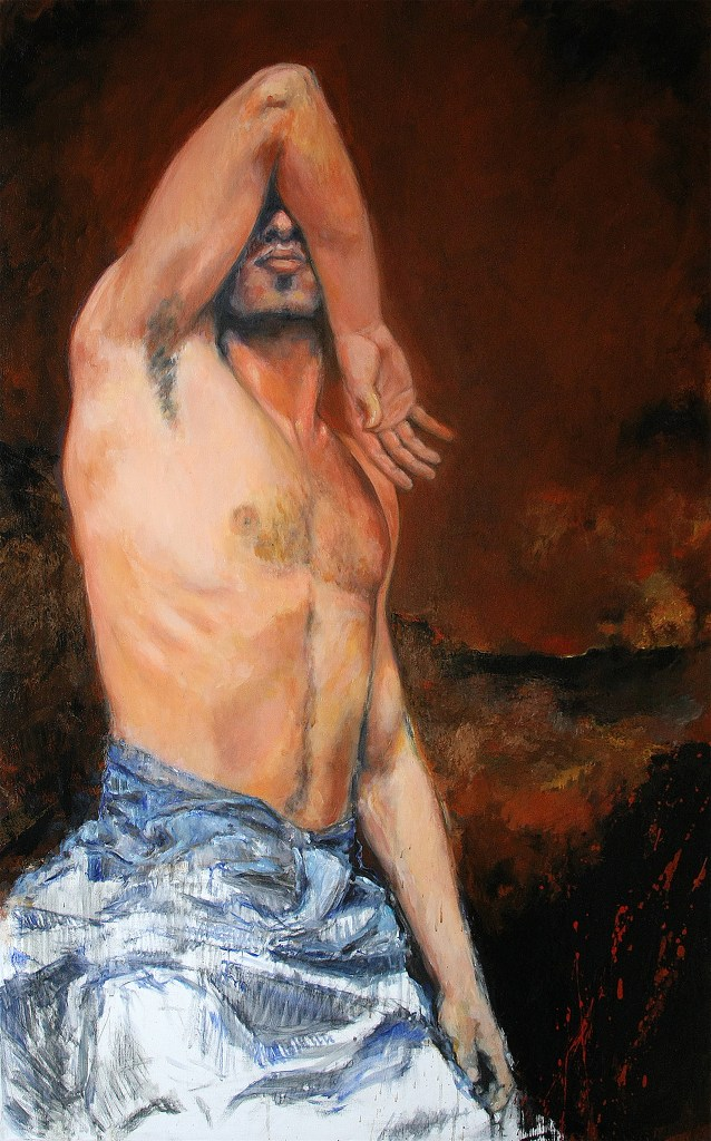 Syria – Oil on canvas – 51x32inch (130x81cm) First painting of a new series which was selected for the new publication PoetsArtists magazine issue #82 Februar 2017 « The Male Muse » (Syria Page 68). Excellent article by Daniel Maidman in The Huffington Post. Thanks to publisher and curator Didi Menendez for choosing my work among other famous and awesome artists like Conor Walton, Thomas Wharton, Natalie Holland, Ron Androla, Daniel Maidman, R Jay Slais, Francien Krieg, Shana Levenson,Yvonne Melchers and so many others that I am not able to tag right now. www.poetsandartists.com issue #82. PDF and print copy ordering info is included at the bottom of the article : https://www.poetsandartists.com/magazine/2017/1/28/the-male-muse