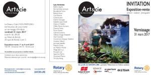 Invitation vernissage Art&cie 2017 (recto verso)