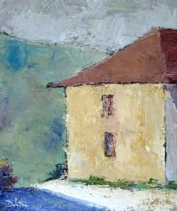 Saint-Marcel - oil on canvas - 55x46cm - collection particulière