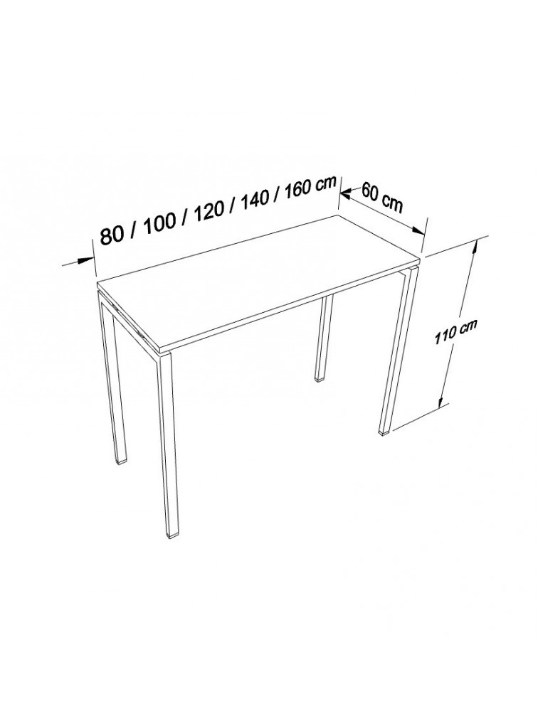 table haute polyvalente meeting