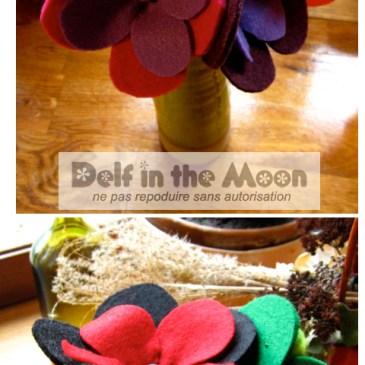 Bouquets en feutrine série 3