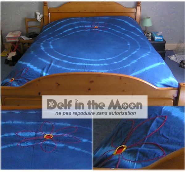 couvre lit-bleu