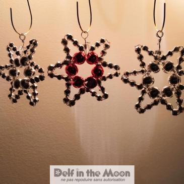 Étoiles tchèques en perles de verres de Noël