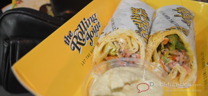 The Rolling Joint – An option for Veg/Non-Veg rolls in CP