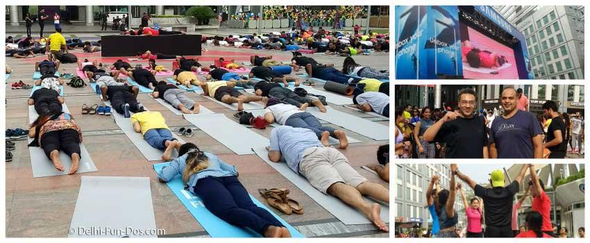 International Yoga Day celebrations with DLF Cyberhub and Reebok