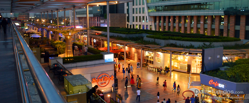 Things to do in Delhi Summer- DLF Cyber hub: Eat, Drink and be Merry