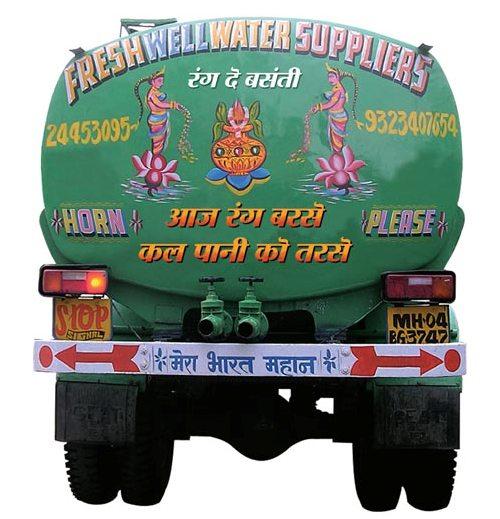 Truck Bumper Sticker Save Water
