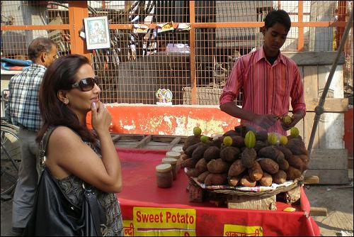 Local GK1 Market Delhi