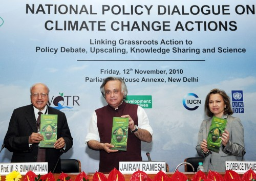 Jairam Ramesh, Prof. M.S. Swaminathan at the National Policy Dialogue on Climate Change Action