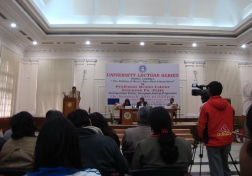 DU Hosts Public Lecture on Politics of Nature: East-West Perspective