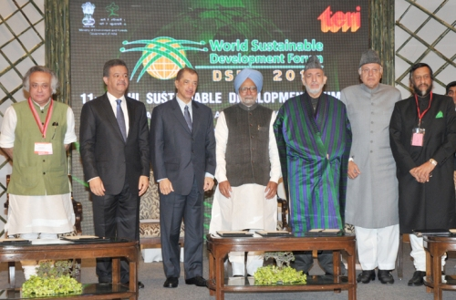 Prime Minister Inaugurates the Delhi Sustainable Development Summit 2011