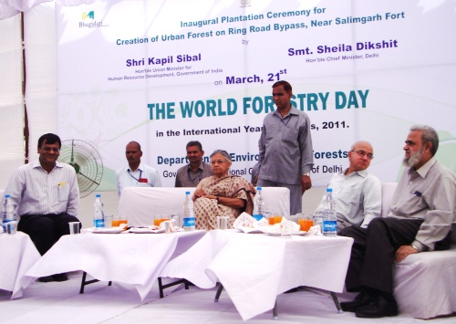 World Forestry Day Plantation with Chief Minister Sheila Dixit
