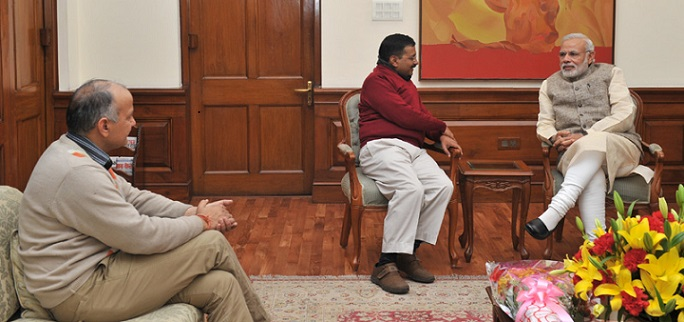 cm-of-delhi-arvind-kejriwal-with-pm-of-india-narendra-modi
