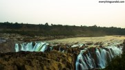 Dhuandhar Fall from New Bhedaghat side of the Narmada. Incredible Dhuandhar Fall.