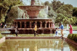 Fountain near India gate