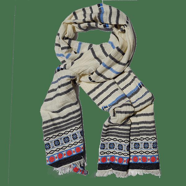 Scarf-Cotton-handloom-white-drape-600px