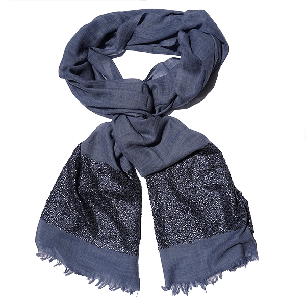 shawl-wool-sequins-blue-drape
