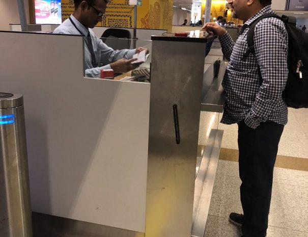 Immigration check in Delhi