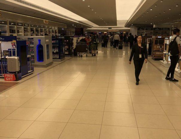 Duty free shops at the Delhi international airport
