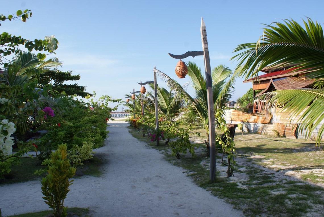 Mabul Resort walkway