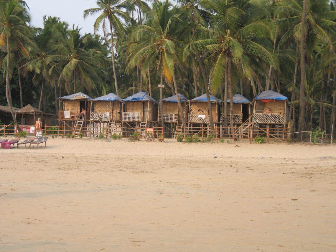 Palolem beach- thatched huts 2