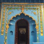 Scalloped arched door
